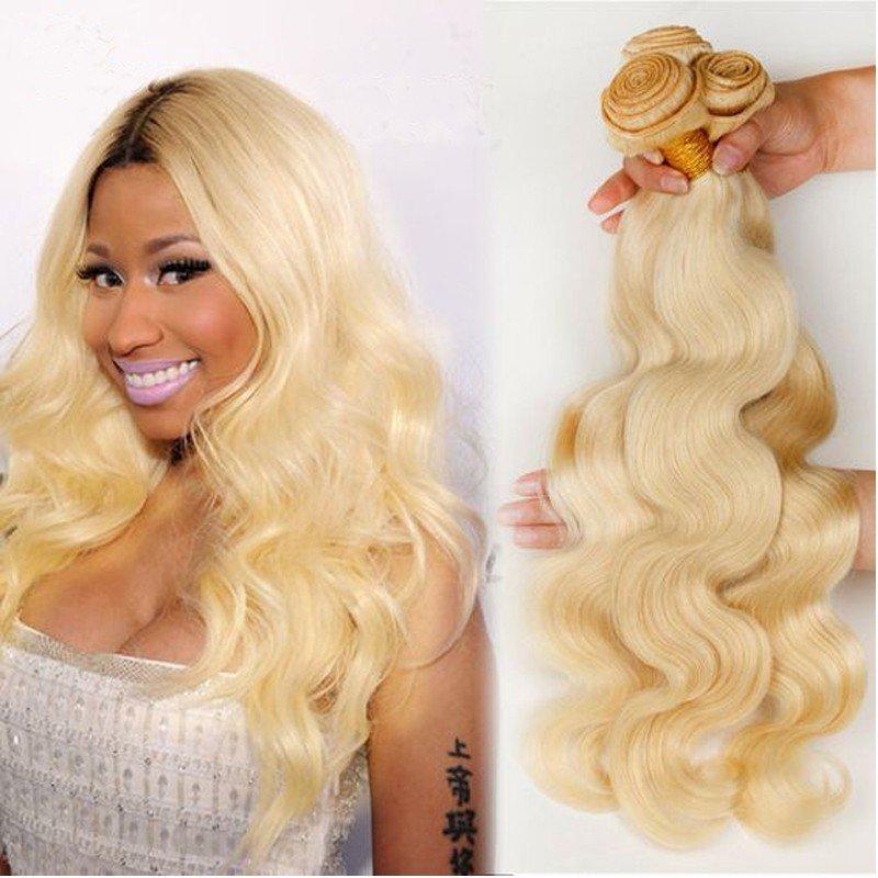 Best Katy Hair Peruvian Human Hair Weave 613 Hair Body Wave